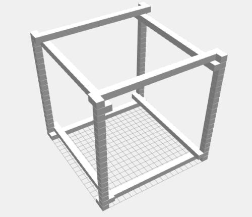 Bitbeam-voxel-cube